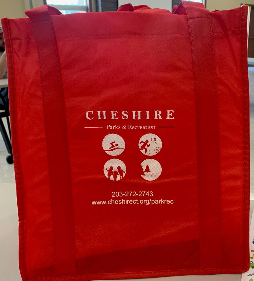 "Cheshire Parks and Recreation ""take and make"" bags are being sold for $15 each. Mariah Melendez, Cheshire Herald staff."