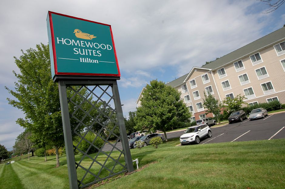 Homewood Suites on Miles Drive off Route 68 in Wallingford, Mon., July 22, 2019. The Inland Wetlands and Watercourses Commission granted a wetlands permit last week for a new hotel behind Homewood Suites. Dave Zajac, Record-Journal