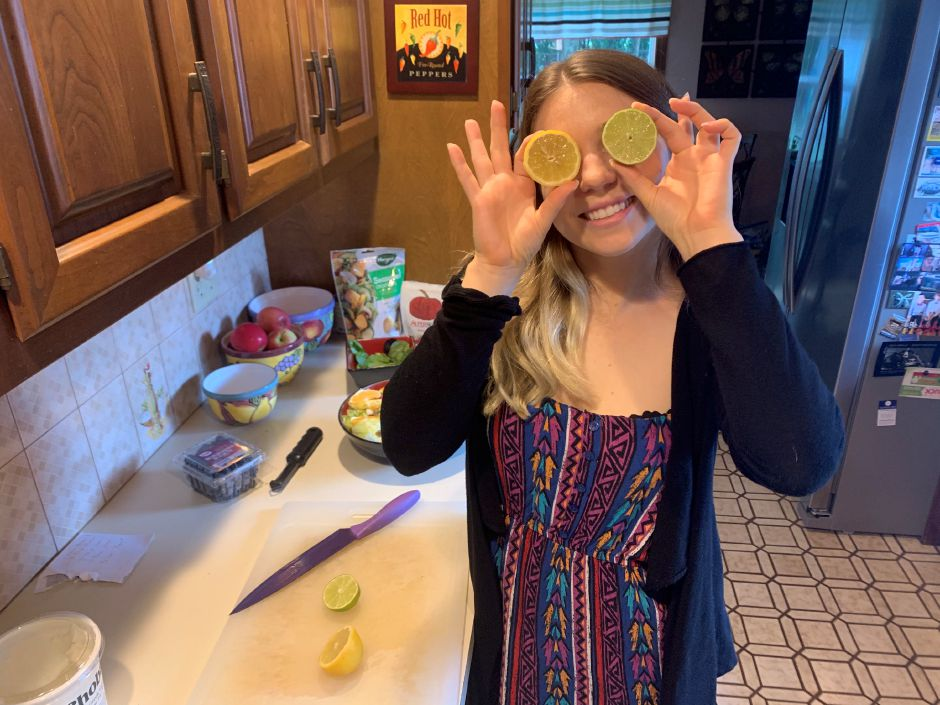 Kristen Dearborn has a little fun with lemons and limes while making a summer salad.