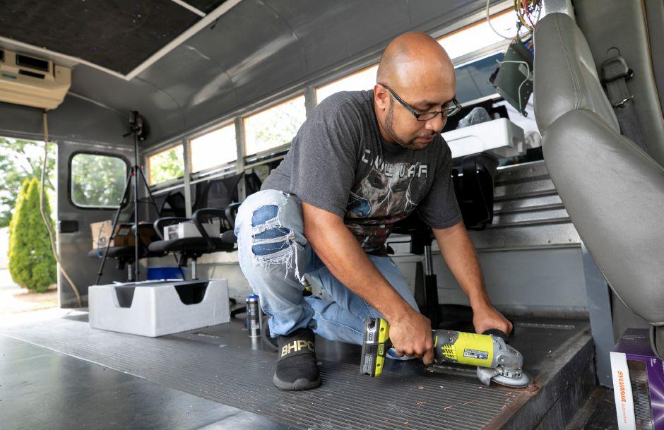 Meriden Artist Converting School Bus Into Mobile Studio