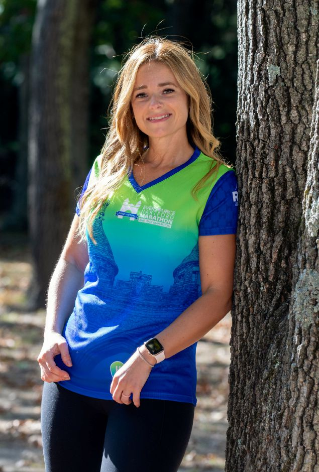 Michelle Osuch of Southington will be participating in the 2020 Eversource Hartford Marathon's virtual 5K, 10K and Half Marathon this weekend. Osuch is raising money and awarness for Girls on the Run Greater Hartford. Aaron Flaum, Record-Journal