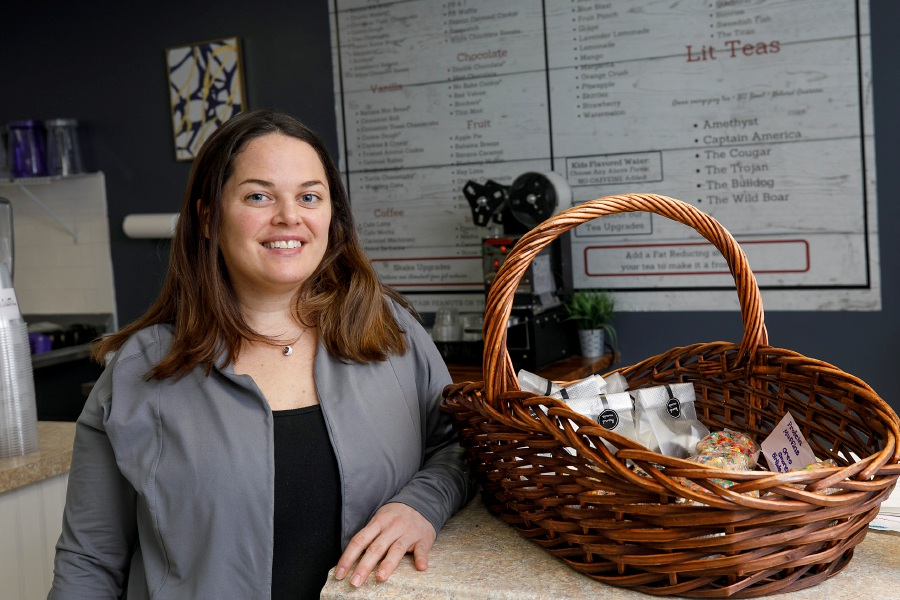 Erica Santore, owner of Wallingford Nutrition Spot, a new business at 314 Main St., Yalesville, Fri., Jan. 22, 2021. Dave Zajac, Record-Journal