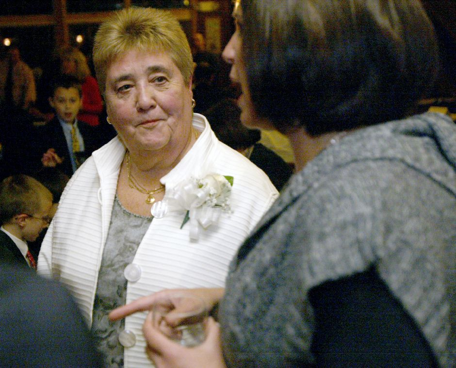 WALLINGFORD, Connecticut - Wednesday, November 11, 2009 - Judy Samaha, 2009 Sheehan Hall of Fame Inductee, is shown at a ceremony on Wednesday at Gouveia Vineyard. Rob Beecher / Record-Journal