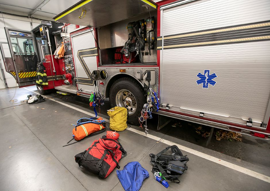 Rope rescue gear supplied on Squad 1 at Southington Fire Headquarters, Fri., Oct. 18, 2019. Dave Zajac, Record-Journal