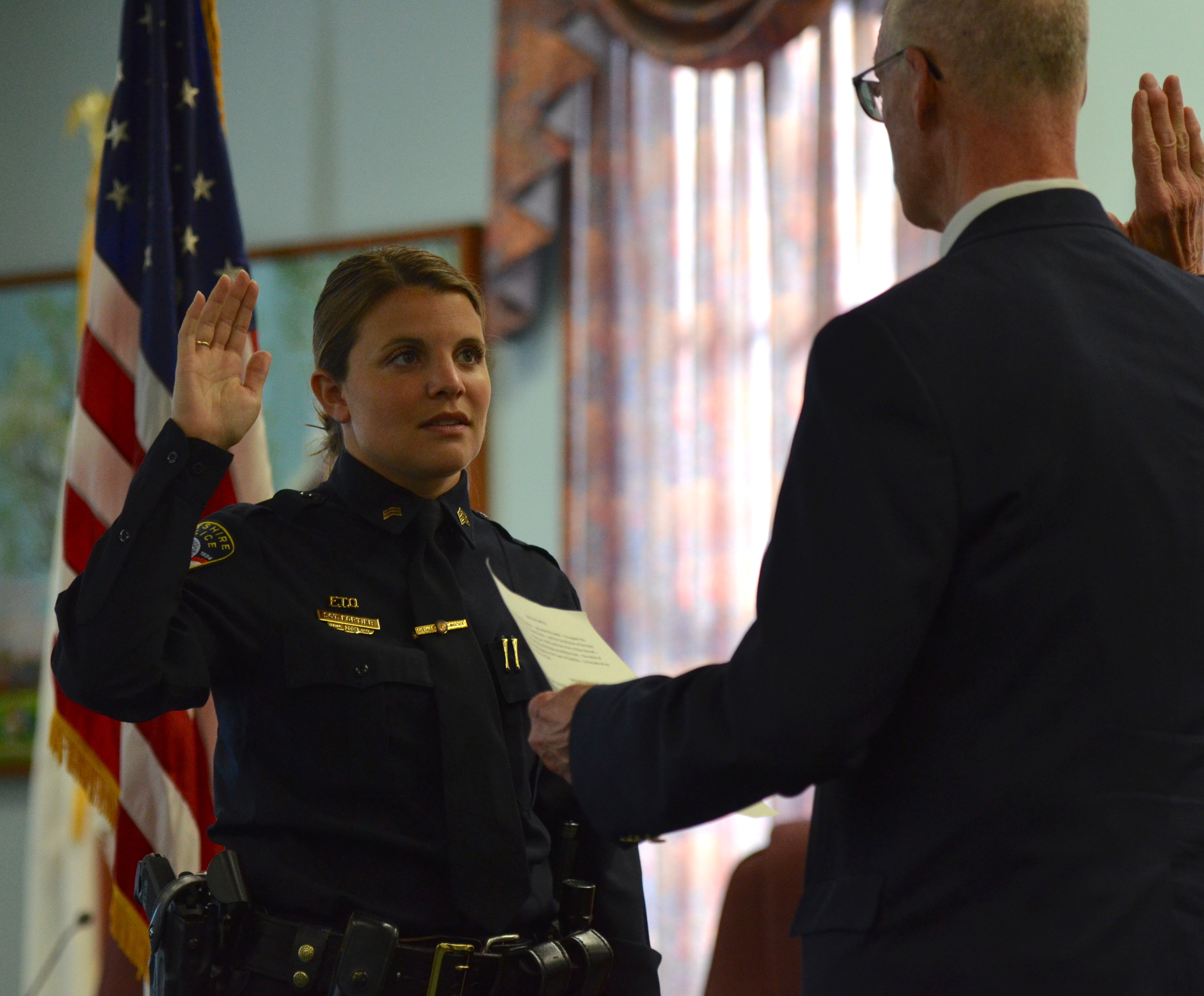 CHESHIRE — The police department promoted five officers ...