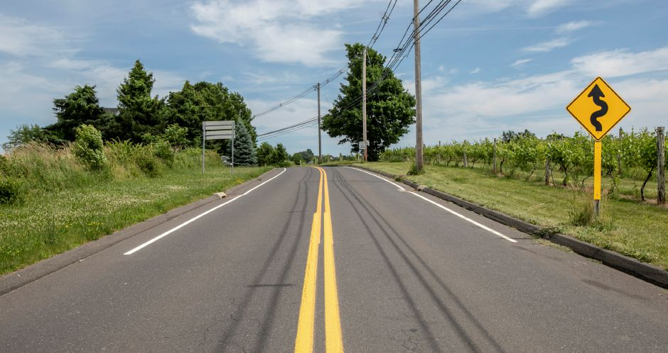 Whirlwind Hill Road near Gouveia Vineyards, right, in Wallingford, Mon., June 24, 2019. Dave Zajac, Record-Journal