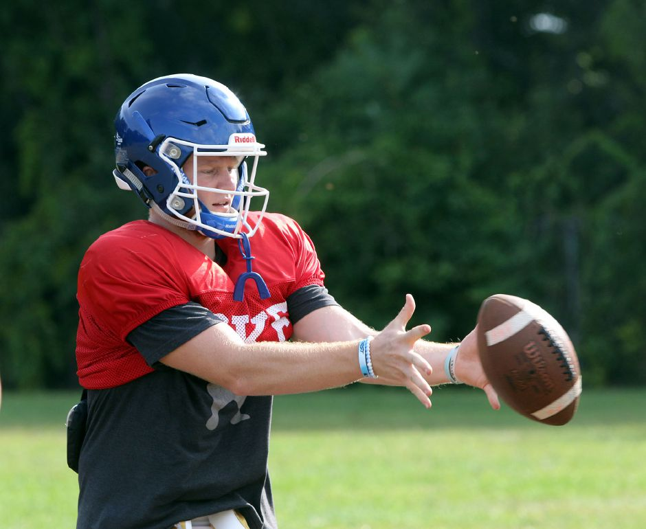 Versatile junior Shane LaPorte will deploy primarily at wide receiver, but will also see snaps at quarterback in some of Southington's play packages. | Aaron Flaum, Record-Journal