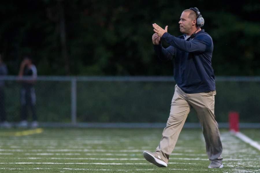 Platt coach Jason Bruenn and Maloney counterpart Kevin Frederick applauded the Meriden Board of Education's decision on Tuesday night to allow the Platt and Maloney football teams to use school equipment and facilities to play 11-on-11 club football this fall. Record-Journal file photo