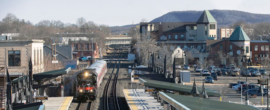 A CTrail train pulls into the Meriden train station on State Street. Dave Zajac, Record-Journal
