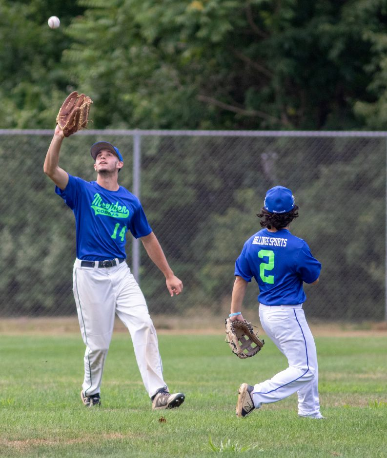 Center fielder Andrew McCarty and the Meriden Cobras travel to Orange on Friday to open the CT Elite Baseball Association state tournament. Game time is 5:30 p.m. at Brinley Field. Aaron Flaum, Record-Journal