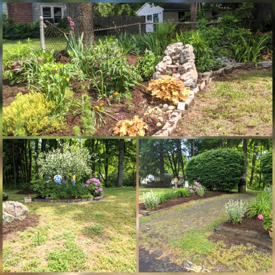 Article and photos by Cindy Golia – Portion of Pollinator Garden at Todds Pond / Dolly Chagnon Memorial Garden / Entrance to the pond area.