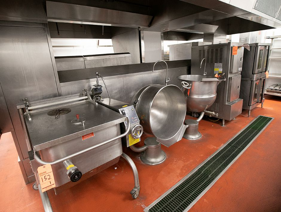 Kitchen equipment for auction in the former Bristol-Myers Squibb in Wallingford, Fri., Jan. 25, 2019. Dave Zajac, Record-Journal