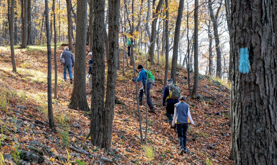 The Berlin Land Trust's  hike to Lamentation Mountain's North Peak last October.