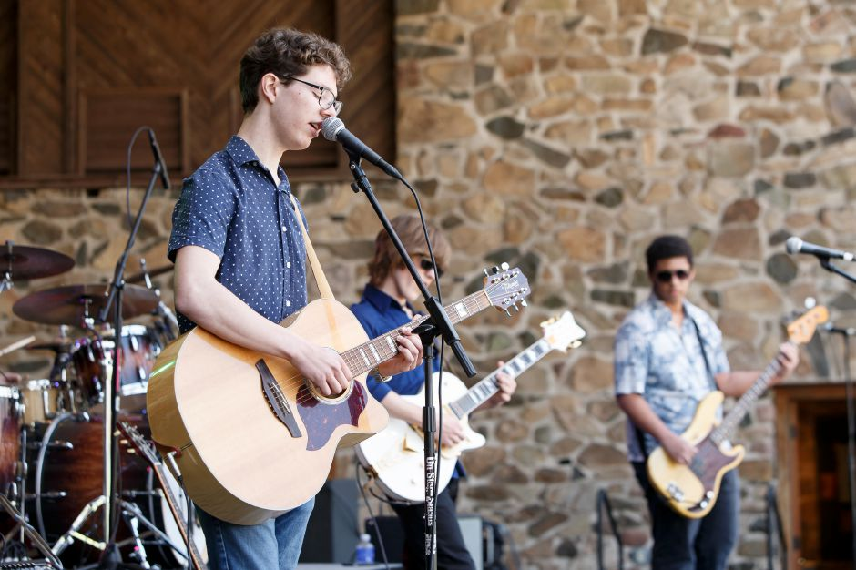 Braiden Sunshine joins Jake Kulak and the Lowdown perform on the Bandshell Stage Saturday during the 40th Annual Meriden Daffodil Festival in Hubbard Park Meriden April 28, 2018 | Justin Weekes / Special to the Record-Journal