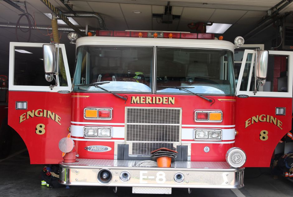 Engine 8 in the South Meriden Volunteer Fire Department located on 31 Camp St. in Meriden. May 31st, 2019 | Spencer Davis, Record Journal