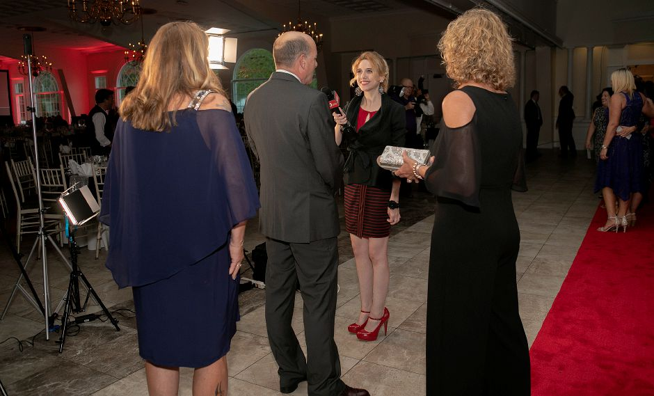 Record-Journal Digital Content Producer Ashley Kus interviews guests on the red carpet during the inaugural Record-Journal Reader
