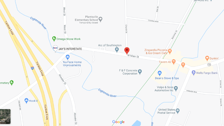 Southington Fire respond to West Main Street for gas main break on Tuesday, May 12, 2020. | Google Maps