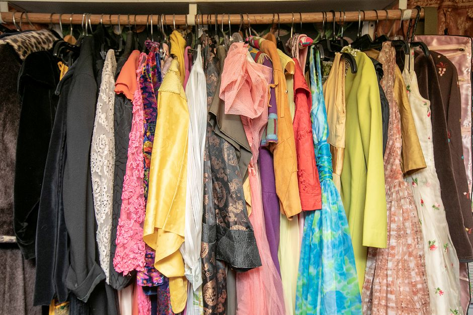 Racks of vintage clothing for sale at La Vita Vintage, 774 S. Main St., Plantsville, Mon., Jan. 13, 2020. Shoppe owner Marcy Mongillo is closing the store after 22 years in downtown Southington and Plantsville. Dave Zajac, Record-Journal