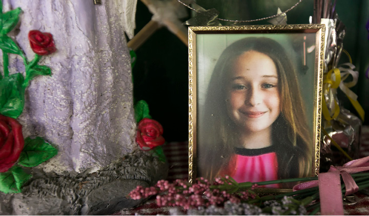 "A memorial to Olivia Fusco at the residence of her father, John Fusco, Friday, August 4, 2017. Olivia Fusco, 14, and her friend AnnMarie ""Annie"" Olender, 16, died in a tragic car accident on I-84 in 2015.  