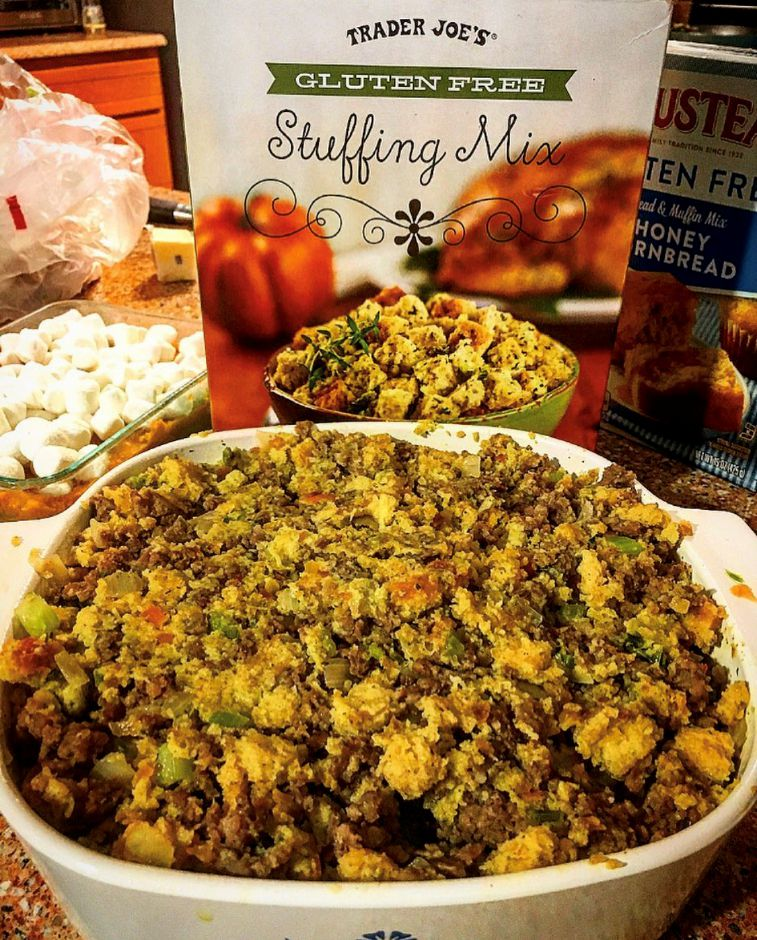 Thanksgiving gluten free stuffing. |Meaghan Penrod, special to Record-Journal