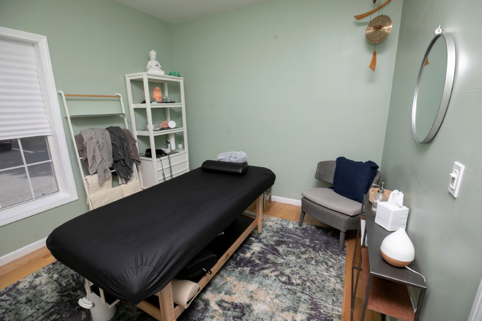 A room for reflexology, acupuncture and Reiki at Dr. Christine M Thorn LLC 1090 Meriden Waterbury Turnpike., Southington, Mon., Jul. 13, 2020. Dave Zajac, Record-Journal