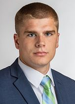 Endicott College senior wide receiver Justin McEwen of Meriden set single-game career highs with five catches for 157 yards and two touchdowns in Friday's season-opening win over Framingham State. | Endicott College photo