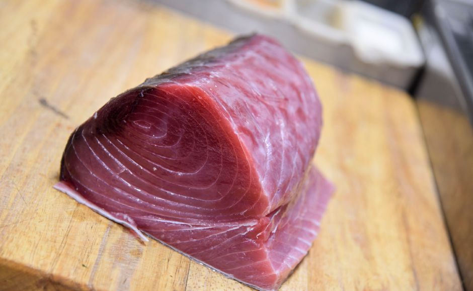A fresh slab of tuna steak at Nataz in Southington on Thursday, August 15, 2019. | Bailey Wright, Record-Journal