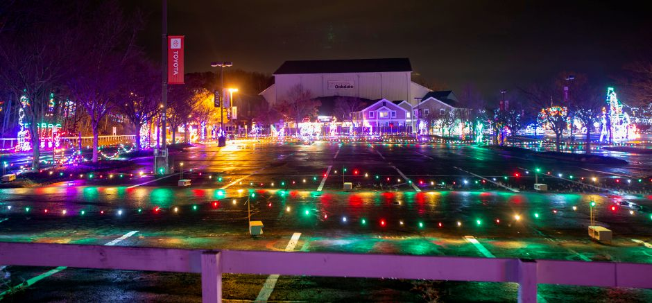 The Oakdale Theatre in Wallingford hosts drive-through attraction Magic Lights beginning Nov. 13 through Jan. 2. | Richie Rathsack, Record-Journal