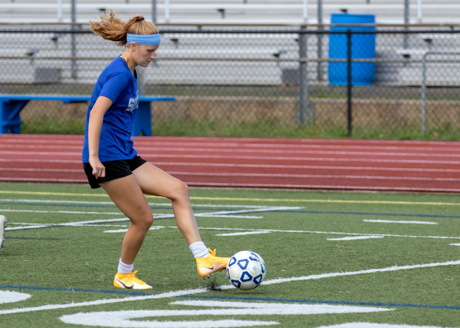 Like all Connecticut soccer, field hockey, cross country, girls swimming and girls volleyball teams, Abigail Sowa and the Southington girls soccer squad got clearance from the CIAC on Friday to start full-team, full-contact practices next week in preparation for a regular season scheduled to start October 1. Aaron Flaum, Record-Journal