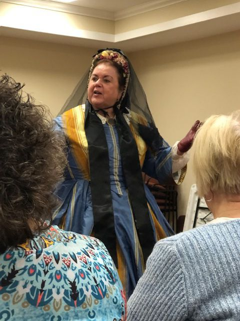 Actress Sally Mummey as Mary Todd Lincoln.Photo by Bronwyn Commins