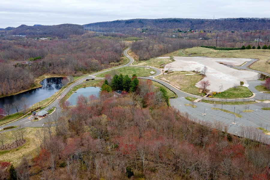 View looking northeast shows the former Bristol Myers Squibb property at 5 Research Pkwy. in Wallingford, Mon., Apr. 12, 2021. An Amazon warehouse and distribution center is proposed for the site. | Dave Zajac, Record-Journal