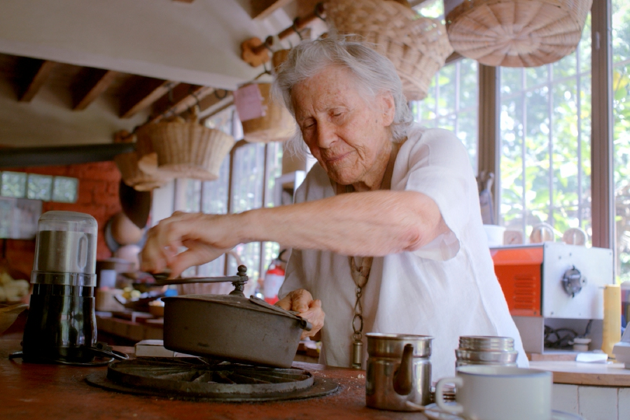 "This image released by Honeywater Films shows Diana Kennedy in a scene from the documentary ""Diana Kennedy: Nothing Fancy."" The documentary traces the unlikely rise of an Englishwoman who became one of the most respected authorities on Mexican food. She"