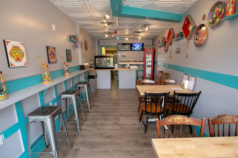 The dining room of Nina's Desi Kitchen, a new restaurant at 26 North Main St., Southington.  Dave Zajac, Record-Journal