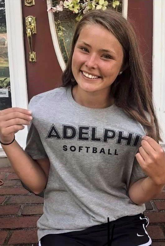 Bri Pearson, who is heading into her senior year at Cheshire High School, has committed to play softball for Adelphi University on Long Island.