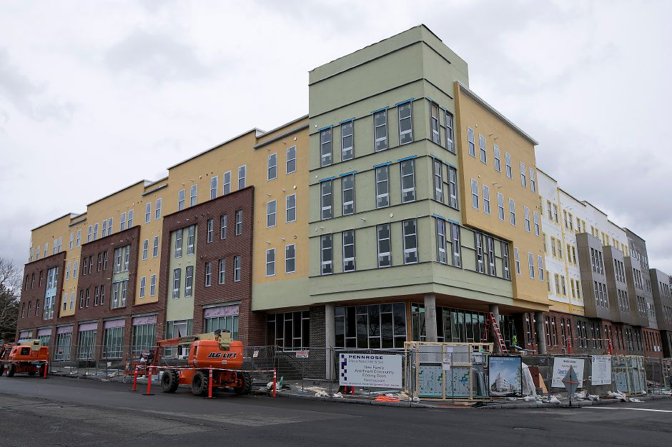 Meriden Commons l under construction on State Street in Meriden, Friday, Feb. 16, 2018. The developer is accepting applications for the 75 apartments in the complex, expected to open in April. Dave Zajac, Record-Journal
