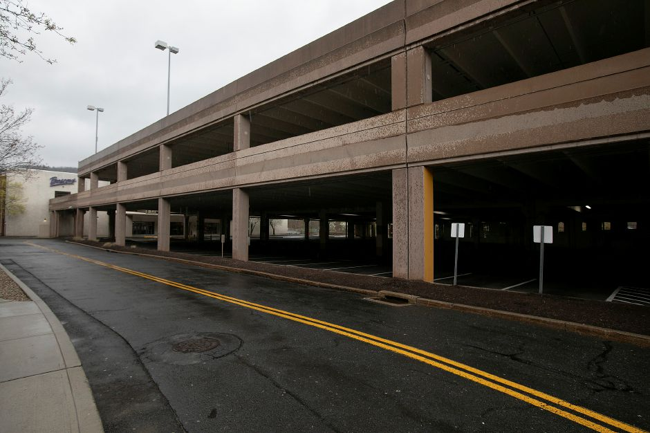 The empty north parking garage at Westfield Meriden mall Tuesday afternoon, Apr. 21, 2020. Dave Zajac, Record-Journal