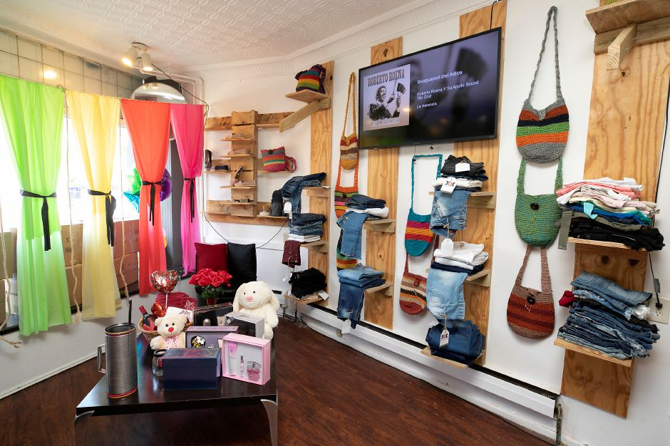 Jeans, perfume, embroidery and other items at Stravaganxxa, 182 Quinnipiac St., Wallingford, Tues., Aug. 25, 2020. Dave Zajac, Record-Journal