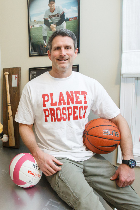 Southington's Kevin Meier founded Planet Prospect, a recruiting service that helps high school athletes create their own website, load it up with stats, grades, video and newspaper articles, and then email their link to any coach in the country.| Justin Weekes / For the Record-Journal