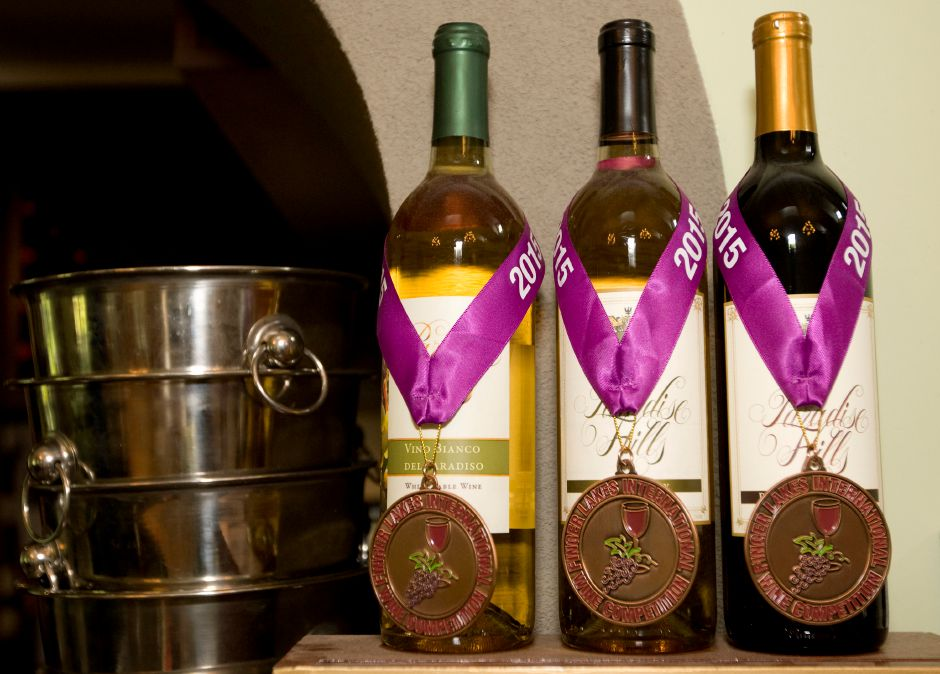 FILE PHOTO – Three wines at Paradise Hills Vineyard & Winery which won bronze medals in a recent international competition, Thursday, June 25, 2015. | Dave Zajac / Record-Journal