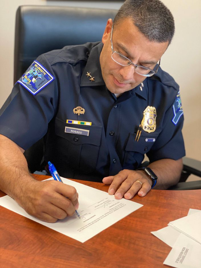 Willimantic Police Chief Roberto Rosado became Meriden