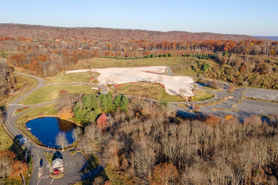 The former Bristol-Myers Squibb site at 5 Research Parkway in Wallingford, Mon., Nov. 9, 2020. The guard house for the property, bottom left, remains active. Dave Zajac, Record-Journal