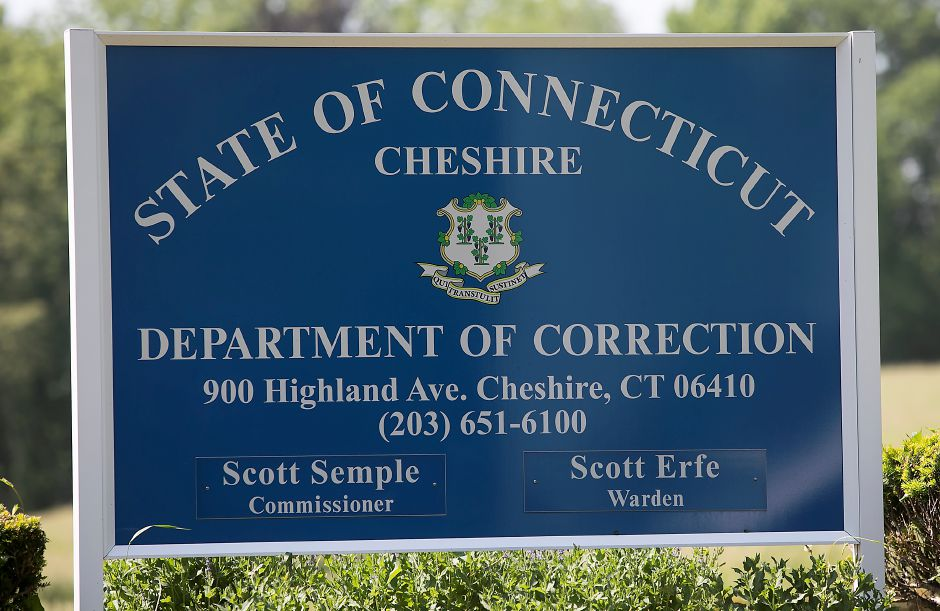 The sign out in front the Cheshire Correctional Institution, as seen in May 2018. The Department of Corrections reported the eight offenders, out of 1,103 who were tested, were confirmed COVID-19 positive since early last month, when widespread testing of offenders began.