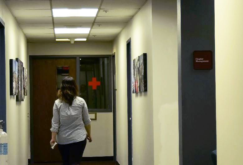 Cheshire resident Stefanie Arcangelo, Chief Communications Officer for the American Red Cross talks about her work at her Farmington office, Tuesday, Nov. 20. |Ashley Kus, Record-Journal