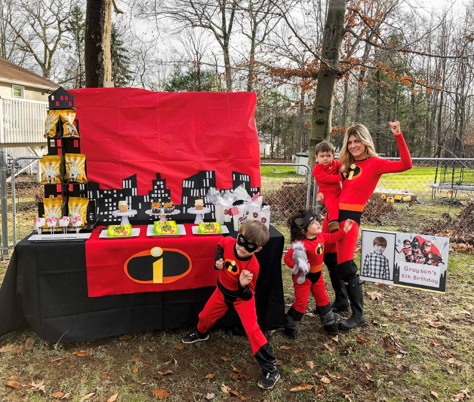"""Incredibles""-themed car parade.Amanda Piscitelli, special to the Record-Journal"