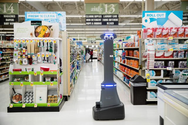 A robot named Marty cleans the floors at a Giant grocery store in Harrisburg, Pa., Tuesday, Jan. 15, 2019. On Monday, the Carlisle-based Giant Food Stores announced new robotic assistants will be arriving at all 172 Giant stores by the middle of this year. The chain
